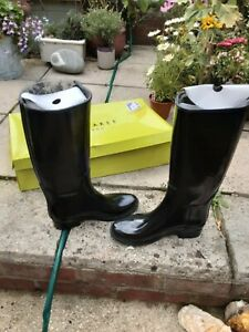 TED BAKER BLACK WELLINGTON BOOT STYLE BOOTS.UK 6