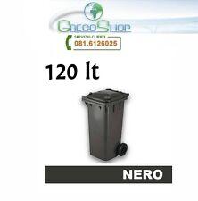 Cassonetto/Contenitore/Bidone per raccolta rifiuti uso esterno 120lt nero