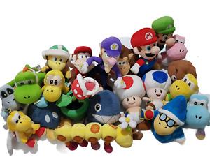 Nintendo Super Mario Bros Plush Toys x 21 Bundle Bulk Lot - Mario Luigi DK Yoshi
