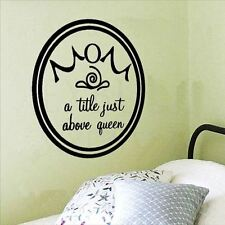 Huhome PVC Wall Stickers Wallpaper Queen bed Bedroom Living round crown personal