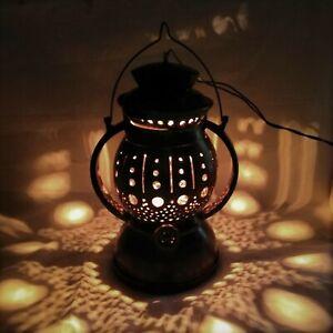 Ceylon Coconut Shell Night Lamp Table Lantern Shade Home Decor Light Hand Made