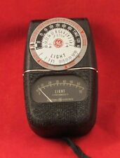 Vintage General Electric Exposure Meter Type DW-68 with Leather Case