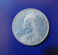 More details for 1887 queen victoria half crown in superb condition