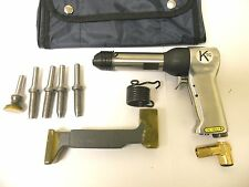 Rivet Gun Kit w/ 4x rivet Gun  Bucking Bar Rivet Sets and Tool Pouch BRAND NEW