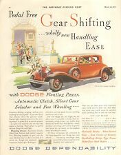 1932 DODGE 5 PASS COUPE ORIG VINTAGE CAR  AD