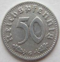 Top! 50 Reich Pfennig 1939 G En Very fine