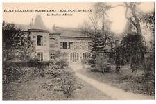CPA 92 - BOULOGNE (Hauts de Seine) Ecole Diocésaine Notre-Dame Pavillon d'entrée