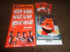FLYERS 2018-2019 SCHEDULE MAGNET & GRITTY UPPER DECK CARD BUY 2 GET 1 FREE SGA