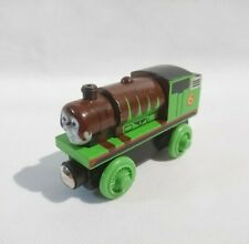 Thomas Wooden Railway Train - Percy Chocolate Covered VERY RARE - Learning Curve