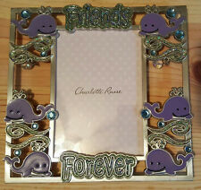 "Charlotte Russe Friends Forever Photo Frame 7"" Wide 6 3/4"" Tall"