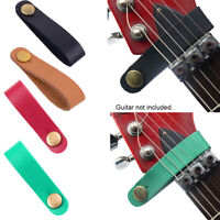 Leather Guitar Strap Holder Button Safe Lock Electric Guitar Bass Accessories
