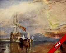 SHIPS IN THE THAMES JMW TURNER OLD LONDON ENGLAND BRITISH ART REAL CANVAS PRINT