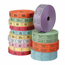 Blue Blank Double Roll Tickets - Party Supplies - 1 Piece
