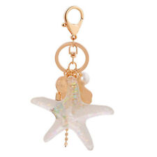 Pearl starfish Spiral Shell Tassel Key Chains for Woman Lady Bag Charms Pendant