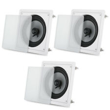 "Acoustic Audio CS-I82S Flush Mount In Ceiling Speakers with 8"" Woofers 3 Pack"