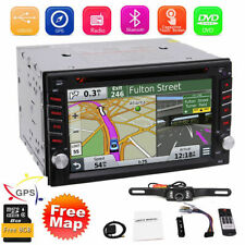 GPS Navigation+8GB Map Bluetooth Radio Double Din 6.2