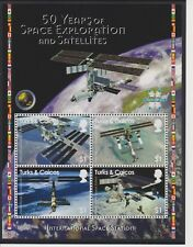 Turks & Caicos 50 Years of Space Exploration Sheet & S/S MNH Scott 1490-1491
