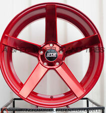 20X9 20X10.5 +35 STR 607 5X114.3 RED WHEEL FIT ACCORD V6 S2000 FORD MUSTANG GT