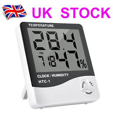 LCD Digital Thermometer Hygrometer Room Baby Outdoor/Indoor Clock Temperature