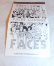 VINTAGE FACES LOUNGE GATEWAY HOTEL MATCHBOOK COVER OLD METAIRIE LA. NEW ORLEANS