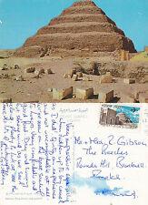 1980's KING ZOSERS STEP PYRAMID SAKKARA EGYPT COLOUR POSTCARD