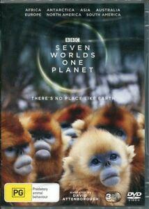 BBC Seven Worlds One Planet DVD NEW Region 4 David Attenborough