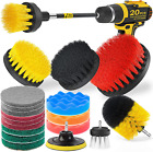 20-Piece Drill Brush Attachment Set Power Scrubber Cleaning Brushes Kit