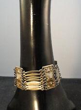 Wonderful Vintage Taxco Sterling Silver Pyramid Panel Link Bracelet