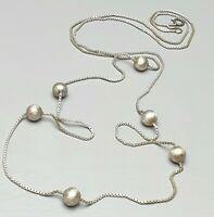 Art Deco Silber Kette 835 Silber punziert 20er/30er Jahre Kugelkette /A696