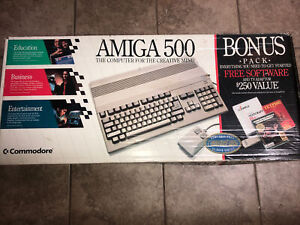 Working! NTSC Amiga 500, In Box W/ Deluxe Paint And Extras