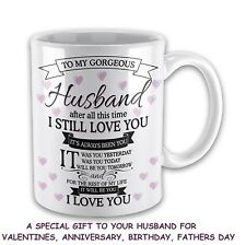 Valentines Gifts For Husband Love Mugs Anniversary Birthday Day Gifts Men Him