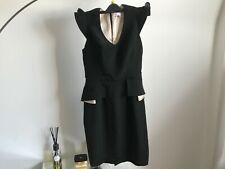 PROJECT D London Sheath Dress Black Cotton And Silk size 10 New RRP $799
