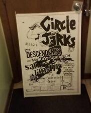 CIRCLE JERKS POSTER MID 2000'S VINTAGE RARE NEW  PUNK DESCENDENTS