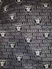 Mini NFL Oakland Las Vegas Raiders Cotton Fabric - 1/4 yard (9