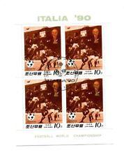 Lot de 4 timbres Mondial ITALIA '90 / Football / Korea 1988 /  LD176
