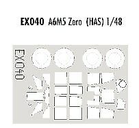 Eduard 1/48 A6M5 Zero paint mask for Hasegawa kit # EX040