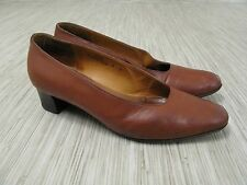 "Coach Tan Leather Heels Women's Size US 6 M Made In Italy Classic 1.5"" Heel"