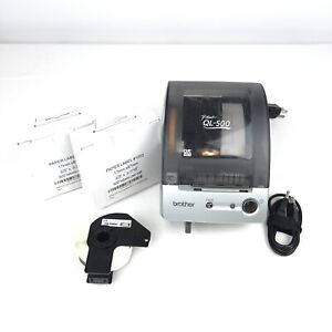 """Brother P-Touch QL-500 Label Thermal Printer w/ New Labels 2/3"""" x 3-7/16"""" TESTED"""