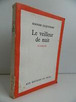 Novela El Vigilante Noche Simone Jacquemard Ediciones de La Umbral 1962