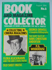 BOOK & MAG'  COLLECTOR  No 6 AUG. 1984 - ORWELL/WODEHOUSE/SHEET MUSIC/ FILM MAGS