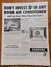 1953 Fedders Air Conditioner Ad Important Facts