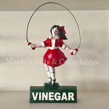 38cm Tall Heavy Cast Iron Vinegar Skipping Girl Collectable Statue