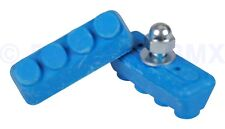Old school BMX freestyle or fixie bicycle soft compound brake pads BLUE
