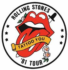 Rolling Stones 1981   Vintage  Style  Travel Decal Sticker