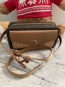 "Michael Kors MK East West Belt Bag Chocolate Gold L/XL ""40 NWT🌺"