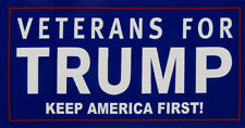 Wholesale Lot of 6 Veterans For Trump Keep America First! Decal Bumper Sticker