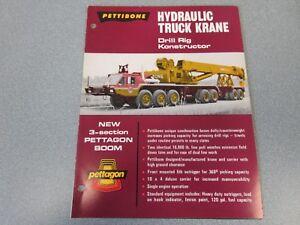 Rare Pettibone Hydraulic Truck Krane Drill Rig Konstructor Sales Brochure