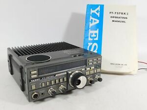 Yaesu FT-757GXII Ham Radio Transceiver w/ Manual + Cable (works well)