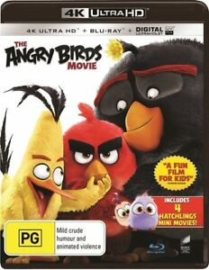 The Angry Birds Movie (Blu-ray, 4K Ultra HD, 2016, 2-Disc Set) NEW SEALED