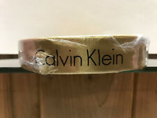 """100% Authentic Calvin Klein Satin Gold Ribbon 1""""W by 50 Meters long, SEALED"""
